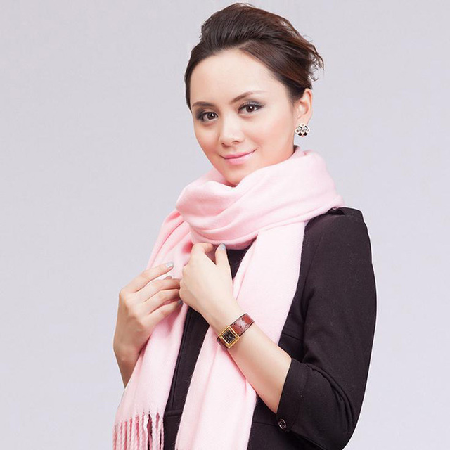 New Arrival Pink Solid Color Cashmere Scarves Women Winter Thick Scarf Shawl Echarpe Fringe Long Kerchief Hijab 68*190cm NP019