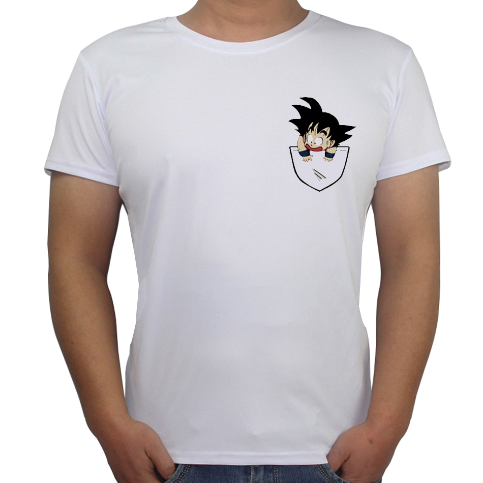 Funny Custom Tshirts Son Goku In My Pocket Design Men T Shirt