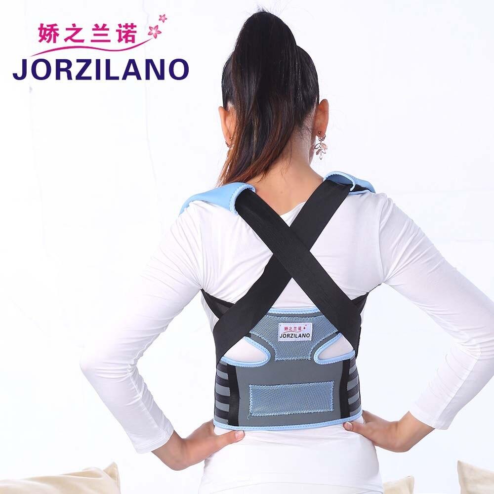 JORZILANO Unisex Adjustable Back Posture Corrector Brace Back Shoulder Support Belt Posture Correction Belt for Men Women A320 back posture correction belt for children beige