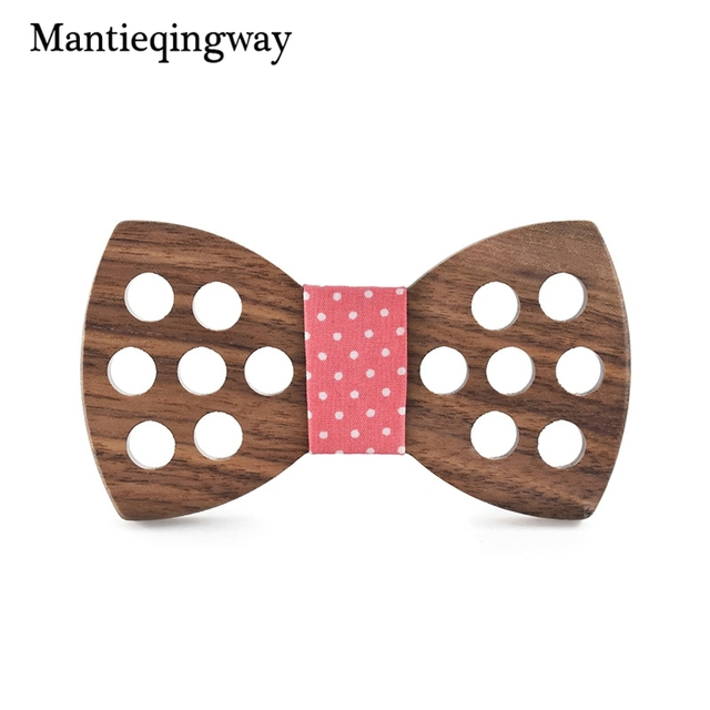 fb9016864ca1 Mantieqingway Polyester Wooden Bow Ties For Men Handmade Hollow Polka Dots Wood  Bowtie for Wedding Shirt Bowknots Wood Cravat