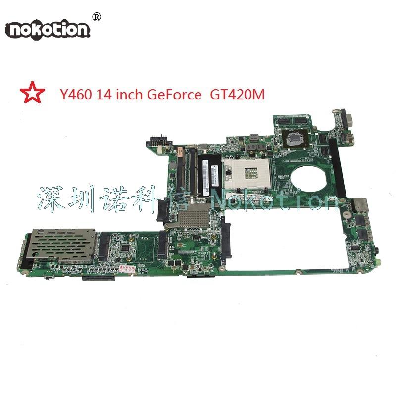 NOKOTION DAKL2BMB8E0 laptop motherboard for lenovo ideapad Y460 HM55 DDR3 14 inch GeForce GT420M Main board works недорго, оригинальная цена