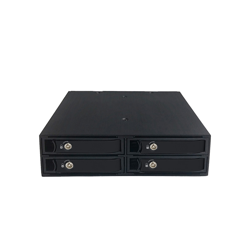 Four bay 2.5 inch internal HDD/SSD mobile rack with hot-swap support 15mm thickness HDD/SSD enclosure