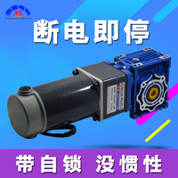 DC24v 60W RV40 Motor Double Stage Worm Gear Self locking Gear Motor High Torque Reverse Speed Control