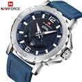 Naviforce relógios masculinos relógio de quartzo data analógica relógio de pulso militar do exército dos homens de luxo da marca