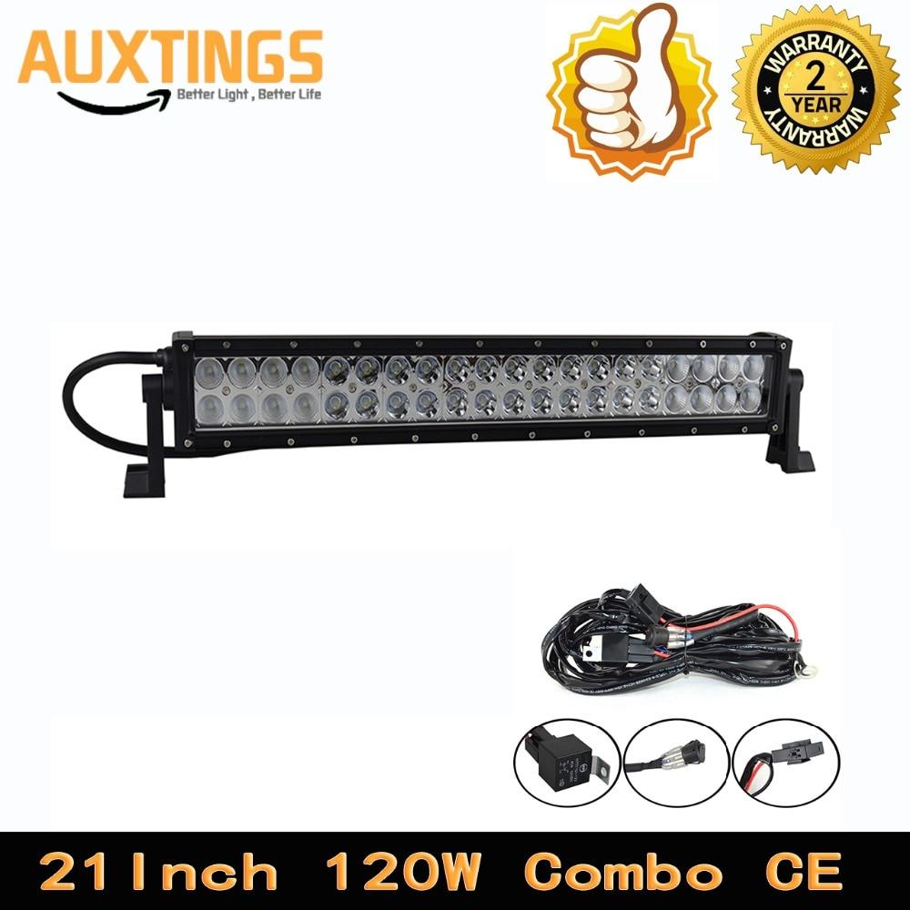super bright 21 inch double row 120w combo led light bar