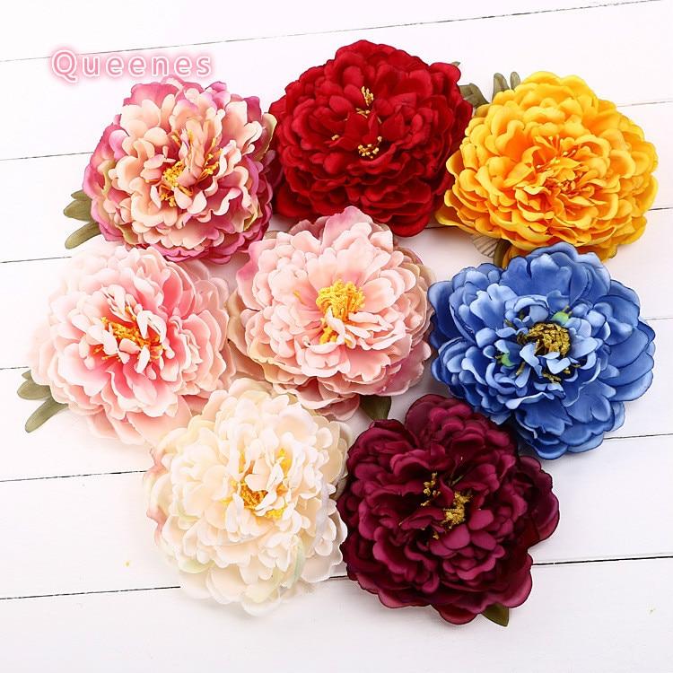 wholesale 8 Colors 15pcs Bohemian Flower Bud 14Cm Big Fabric Peony Bud Fabric Flowers For Headbands Hat Shoes Dress Acessories