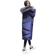 2017 Nova Moda das Mulheres Jaqueta de Inverno Quente Mulheres Parkas Bio-down Longo Médio de Alta Qualidade Espessamento de Algodão Acolchoado casaco