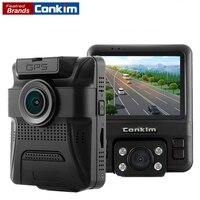 Conkim Dual Lens DVR Car Video Recorder Novatek 96655 Full HD 1080P Dash Cam Auto Registrar GPS DVRs With 2 Cameras GS65H