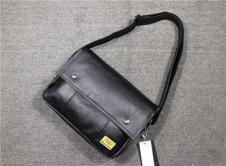 Oriental Element Classic PU Commuter Messenger Flapover Case Briefcase Fashion Cross Body Bag Stylish for Men