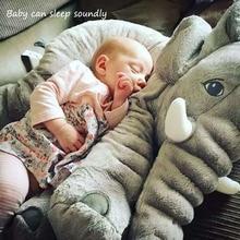 Doux Bébé Éléphant Oreiller Enfants de Couchage Coussin Chambre Bébé Literie Oreillers Décoration Jouets Enfants Calme Poupée Siège De Voiture En Peluche