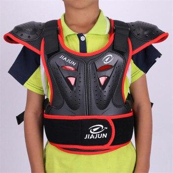 JIAJUN, Protector de cuerpo para niños, armadura, chaquetas de motocicleta, escudo trasero de Motocross, chaleco sin mangas, chaqueta protectora de engranajes para pecho y columna vertebral