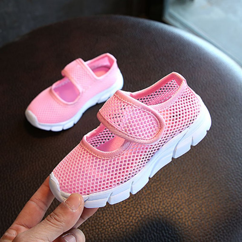 2-11Y  Children Girls Canvas Casual Shoes Candy Breathable Mesh Kids Sports Boys Girls Sneakers 6 Colors Running Shoes