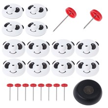 Bed Comforters Sheets Quilts Fastener Panda Cap Holder Pin Magnetic Detacher Set(China)