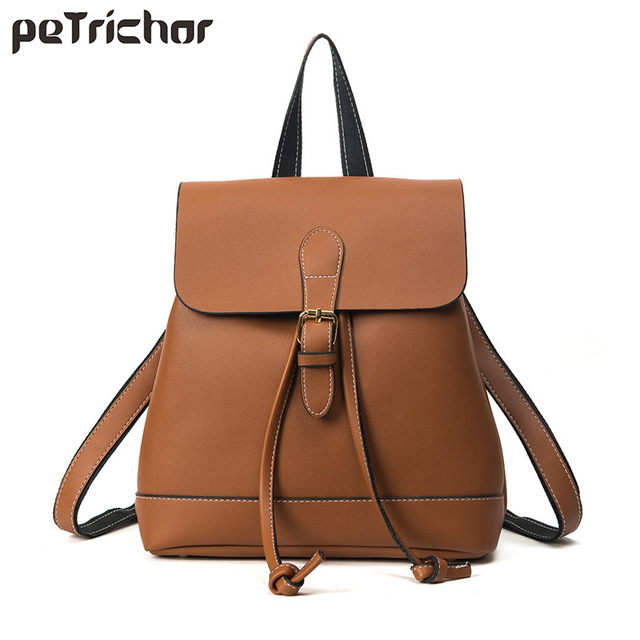 Petrichor Vintage Rucksack Women Multifunctional School Backpack For Teenage Girls Large Capacity Drawstring Travel Backpacks