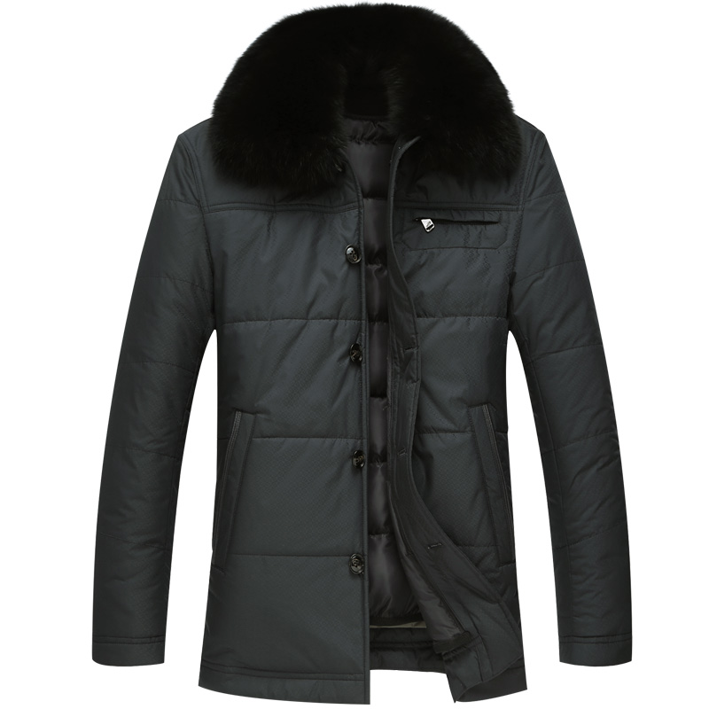Men's Winter Duck Down Jacket Fox Fur Collar Warm Down Coat With Liner Detachable Selected Feather Clothing For Men 5623 New