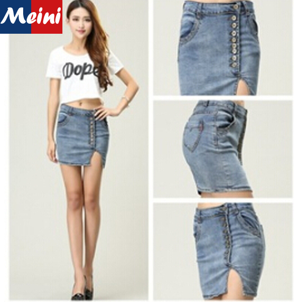 Online Shop 2015 New Hip Package Sexy Denim Skirts Girls Slim ...