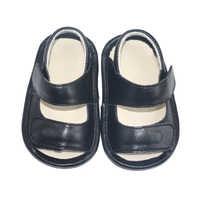SandQ baby schuhe jungen sandalen aus echtem leder neugeborenen schwarz infant schuhe prewalkers strand schuhe rutschfeste boutique 2019 0-24M