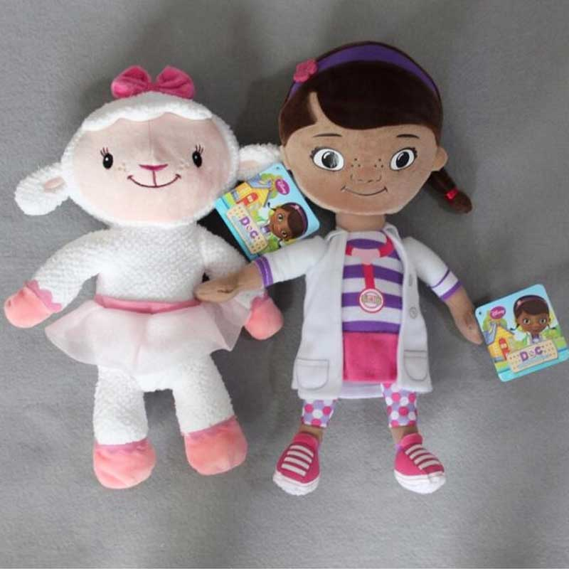 Doc McStuffins Toys Lambie Stuffy Hallie Chilly Boppy Findo Gabby Giraffe Squeakers Whispers Cute Mini Plush