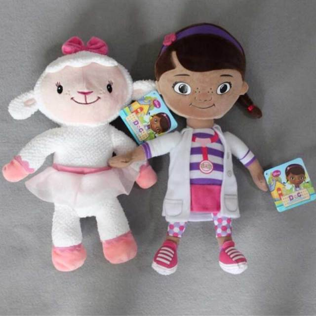 Doc McStuffins Toys Lambie Stuffy Hallie Chilly Boppy Findo Gabby Giraffe Squeakers Whispers Cute Mini Plush Stuffed Animals Toy