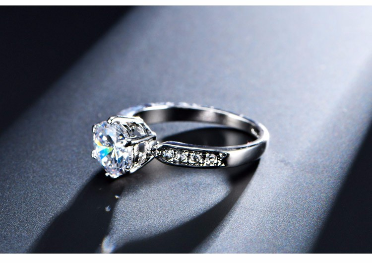 1.75ct AAA Zircon Engagement Rings for women Rose gold color Wedding rings female anel Austrian Crystals Jewelry top quality 6