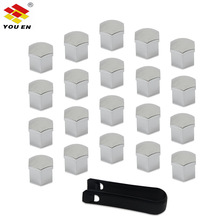 YOUEN 20pcs 17mm/19mm Wheel Nut Bolt Head Cover Cap Protective Caps Tire Valve Dust Cap For Your Car And Bike