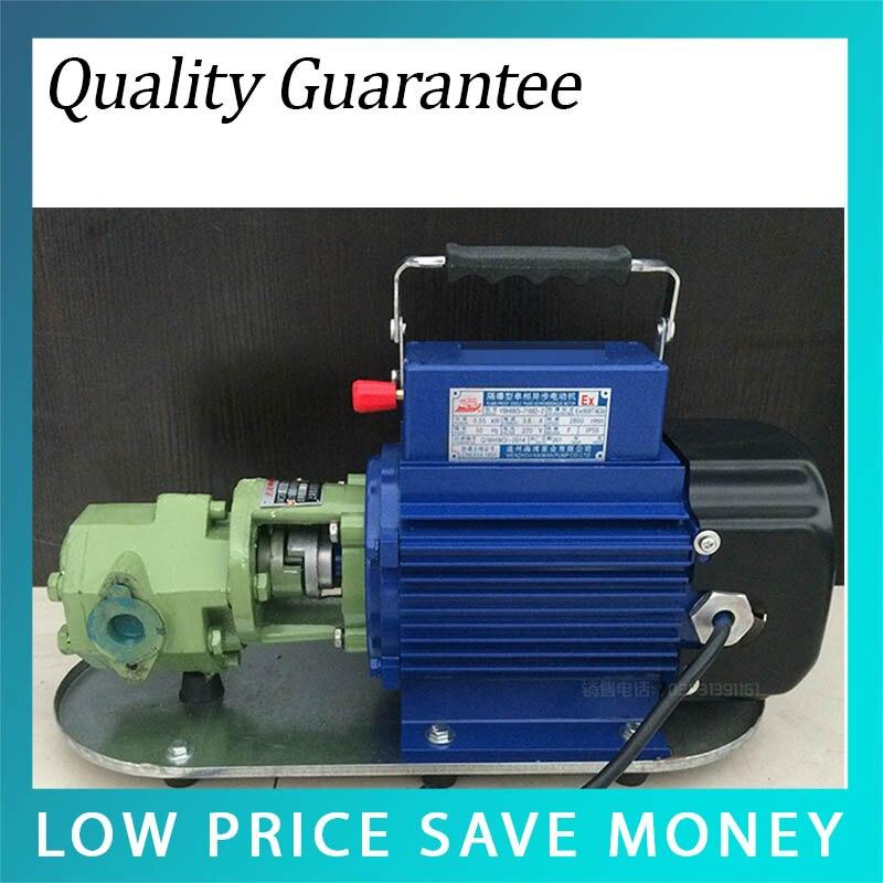 WCB-50 Cast Iron Electric Hydraulic Oil Pump 550W 220V/380V Lubricating Gear Oil Pump wcb 100 cast iron portable electric gear thermal heavy oil pump