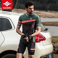 Одежда велосипедная велосипед MTB Джерси Наборы для велоспорта Santic мужской набор велосипедных Джерси лето велосипедный майон одежда