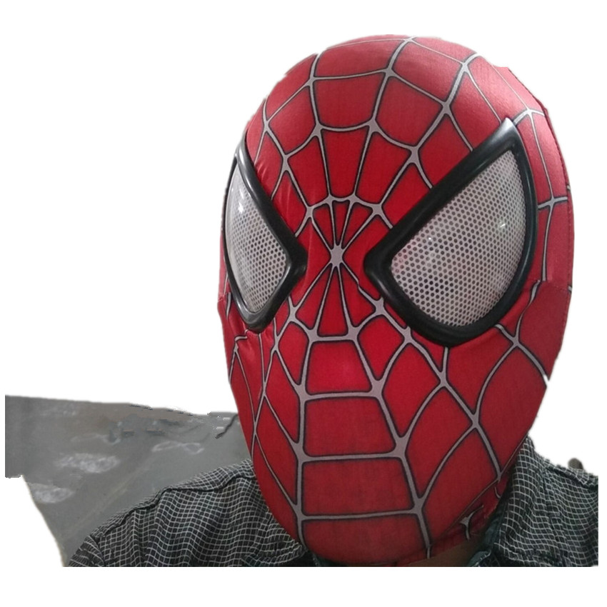Amazing Spiderman Mask silicone Adult Unisex Halloween Party Accessory Spider-Man Cosplay Masks Gift Drop Ship