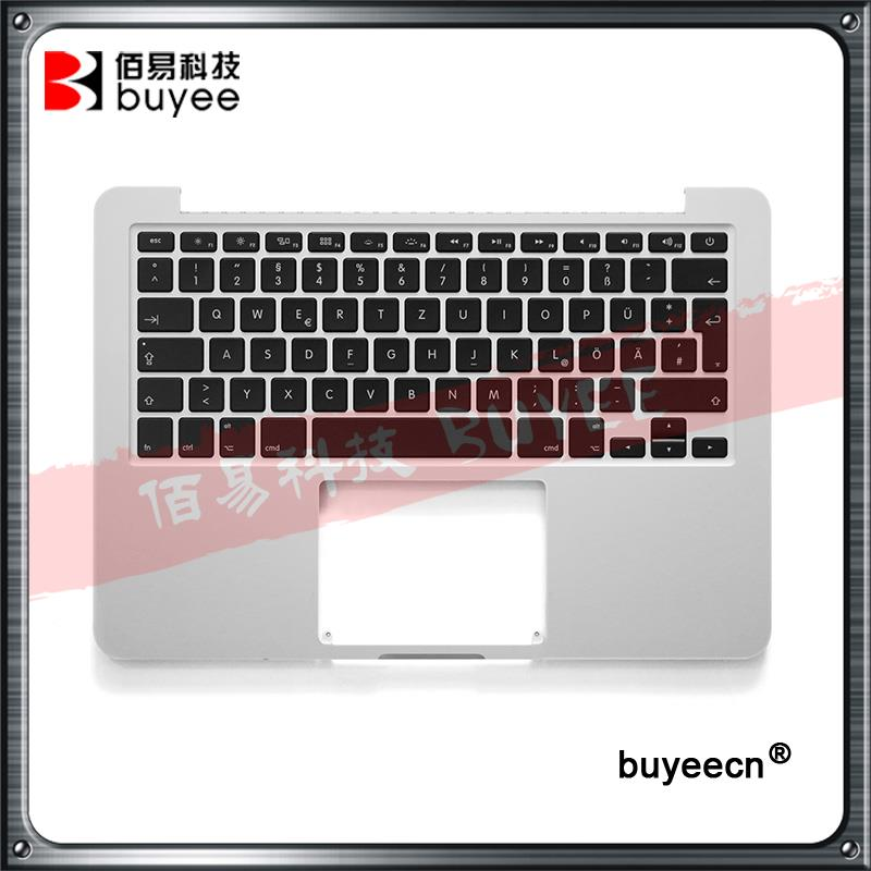 Genuine Top Case A1502 German Kyeboards For MacBook Retina Pro 13 3 A1502 Palmrest Topcase GE