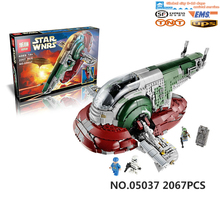 NEW LEPIN 05037 UCS Slave I Slave NO.1 Model 2067pcs Building Block Bricks Toys Kits Minifigure Compatible Toys Gift 75060