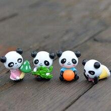 Cute mini panda model animal figurines dollhouse Toys miniatures/terrarium micro fairy garden dolls DIY accessories ornaments