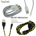 1 M/3.3FT Ткань веревка плетеный кабель micro usb Зарядное Устройство Синхронизации Передачи Данных Нейлон Кабель Micro Usb для Android/samsung/xiaomi/Meizu