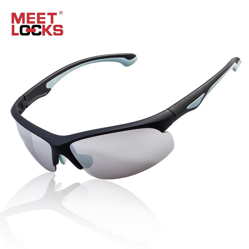 MEETLOCKS Sports Óculos de Sol Para Mulheres Dos Homens PC Quadro 100% Óculos  de Proteção UV para Ciclismo Correndo Montanhismo Olho occhiali a3413c46ca