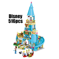 WAZ Compatible Legoe Girl Friends Kids LELE 37008 516pcs Blocks Anna And The Princes Castle Building