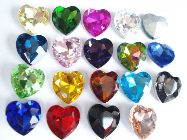 Mixed Colors Heart Shape Crystal Fancy Stone Point Back Glass Stone For DIY Jewelry Accessory.8mm 10mm12mm 14mm 16mm 18mm 23mm лилия asiatic mixed geolia 12 14