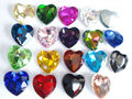 Mixed Colors Heart Shape Crystal Fancy Stone Point Back Glass Stone For DIY Jewelry Accessory.8mm 10mm12mm 14mm 16mm 18mm 23mm