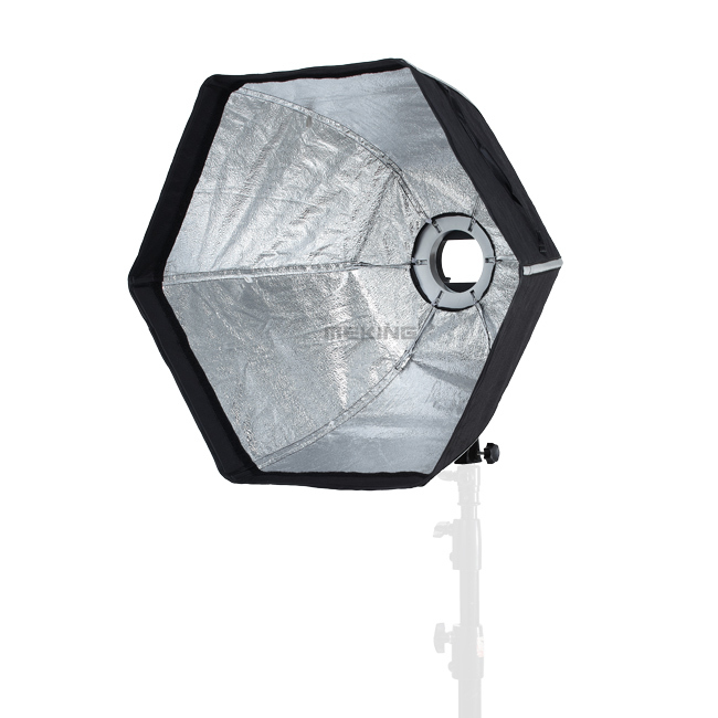 bilder für Selens fotografische softbox 60 cm hexagon softbox mit l-form adapter ring fotostudio zubehör
