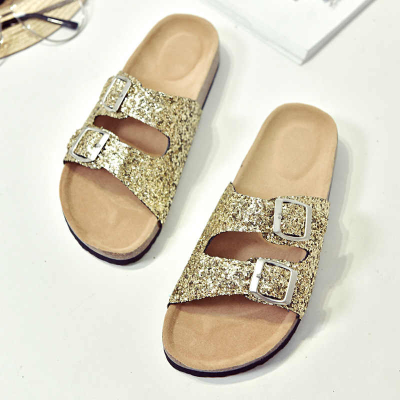 54dfc70f2a3 New Women Kids Glitter Sandals Gladiator Thong Flops Flip Flat Strappy Shoes
