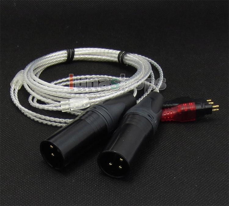 3pin XLR Male PCOCC + Silver Plated Cable for Sennheiser HD414 HD420 HD425 HD430 HD440 HD442 HD450 II SL LN004748 3pin xlr female pcocc silver plated cable for senheiser cl ii hd480 hd490 hd520 ii hd530 hd540 hd560 ln004743
