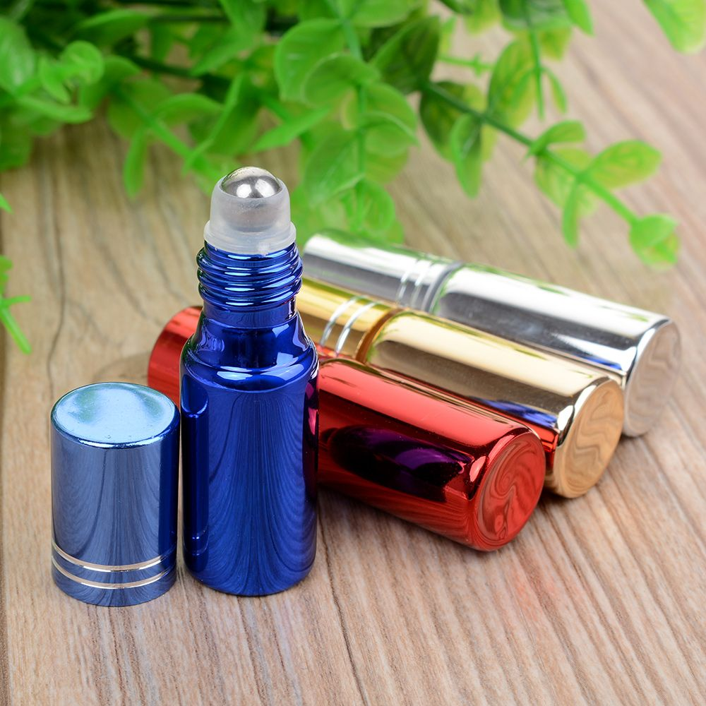 Hot New 5 ML Roll-on Transport Roll Bottle Of Travel  Essential Perfume Crystal Bottle Oil Bottle