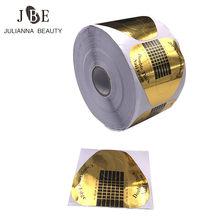 Rouleau de 500 pièces d'extension d'ongles pour Gel UV acrylique, outil de manucure à la française, plateau en papier