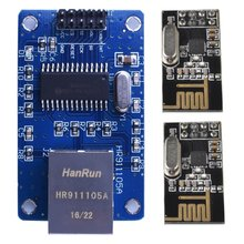 Miroad  WirelessNetwork Module kits ENC28J60 Ethernet LAN Network Module For Arduino SPI AVR PIC LPC+ 2pcs nRF24L01   KY59