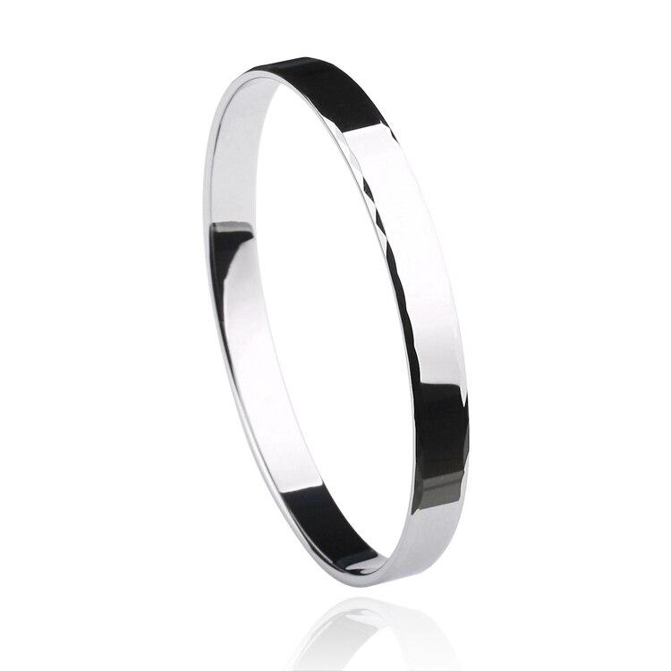 Серебряный тон 8 мм Ширина классический аспект Привет Tech Вольфрам браслет для мужчины или женщины с подарочной коробке