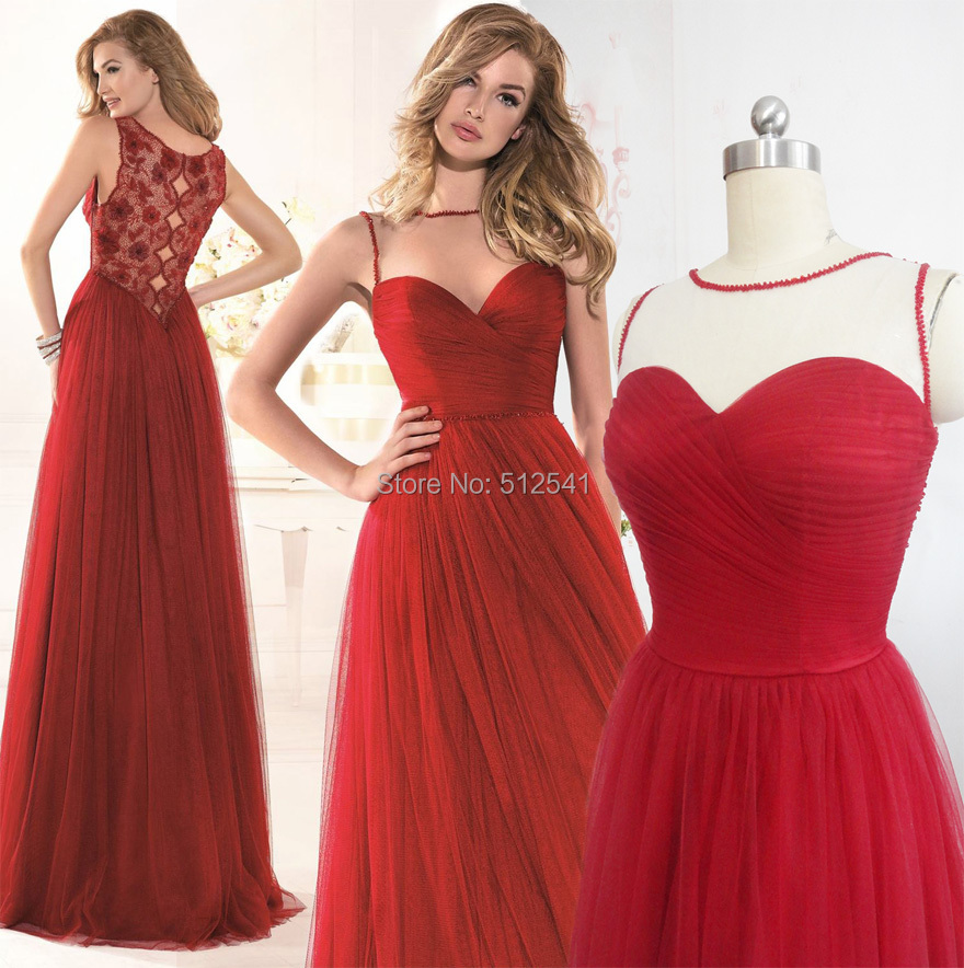 Deep Red Prom Dresses