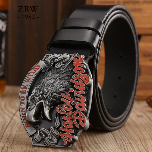 Retail Fashion 2017 New arrival Rock Style Metal Belt Buckle high quality Leather Belts for mens Accessories waist strap jeans