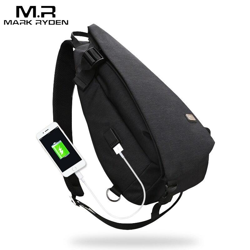 Mark Ryden Новые поступления USB дизайн высокая емкость груди сумка мужская сумка через плечо сумка костюм для 9,7 дюймов коврик водоотталкивающая...