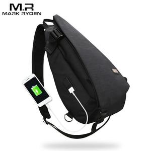 Image 1 - Mark Ryden New Arrivals USB Design High Capacity Chest bag Men Crossbody Bag suit for 9.7 inch Pad  Water Repellent Shoulder Bag