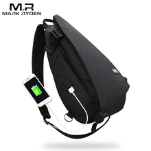 Markryden New Arrivals USB Design High Capacity Chest bag Men Crossbody Bag suit for 11 inches Pad  Water Repellent Shoulder Bag