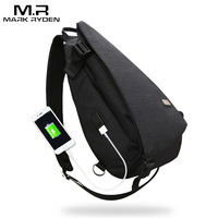 Markryden New Arrivals USB Design High Capacity Chest Bag Men Crossbody Bag Suit For 13 Inches