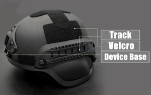 Image 2 - Quality Tactical Helmet Airsoft Gear Paintball Head Protective Face Mask Helmet with Night Vision Sport Camera Mount 3 Colors